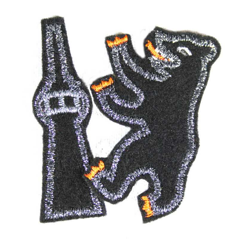 iron-on-patches metallic berlin set bear appliques for adults visible mending badges lurex patches mini patch black silver pack
