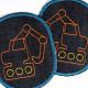 Iron-on patches set excavator trouser patch kid knee patches boys patch organic denim badges appliques building site