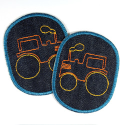 Knee Patch Tractor Iron-on Patch Vehicle Farm Pants Patch Set Organic Jeans Patch Boys Patching Set of Jeans Patches