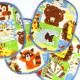 iron-on patches set with animals multicolor tiger zebra elephant lion monkey knee badges kids appliques