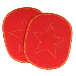 48mm apx Iron On Patch Appliques 10 Embroidered Metallic Silver Stars 1 7//8/""