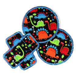 Trouser Dinosaur Patch Dino Kit for Boys Knee Patch Round Iron-on Patch Bandit Iron-on Patch for Kids