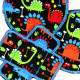 Trouser Dinosaur Patch Dino Kit for Boys Knee Patch Round Iron-on Patch Bandit Iron-on Patch for Kids