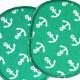 Bügelflicken maritime Flicken weiße Anker auf grün Hosenflicken Set für Kinder zum aufbügeln Knieflicken Patches Ahoi Sailor