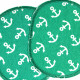 iron-on patches anchor green Set appliques knee badges maritime visible mending patches for kids