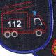 Flicken zum aufbügeln Feuerwehr 2 Bügelflicken Rettungswagen Bio Jeans vegan Hosenflicken Feuerwehrauto Knieflicken Aufbügler