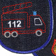 Iron-on Patch fire engine and fire Trouser Patches for Boys Knee Patch truck Vehicle Emergency visible mending