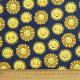 Fabric sunning Robert Kaufman fabrics Daydreamer sun with face sky fabric yellow on dark blue happy kids fabric