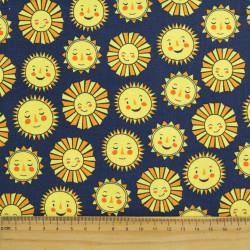 Baumwollstoff Mond Robert Kaufman fabrics Daydreamer Vollmond Sterne Himmel Stoff Nachthimmel dunkelblau Mondsichel