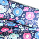 cosmo fabrics canvas printed flowers blue pink cotton large plants