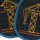 Flicken Baustelle Hosenflicken Kran Knieflicken Fahrzeug Bügelflicken Jungen Aufbügler Jeans organic Denim Patches vegan