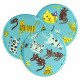Iron-on patches Cat's trouser patches Set of round knee patches Kitten repair patches Tiger for kids to iron on funny turquoise