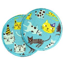 Bügelflicken Katzen Hosenflicken Set runde Patches Kätzchen Hosenflicken Tiger für Kinder zum aufbügeln lustige Knieflicken