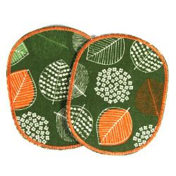 Hosenflicken Natur Blatt Flicken Set grün orange Blätter Bügelflicken große Aufbügler für Wald Kinder zum flicken und reparieren