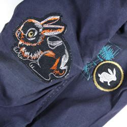 Iron-on patch bunny patch applique knee patches rabbit epair patch organic denim children accessoire