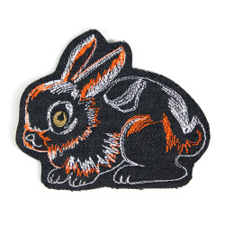 Iron-on patch bunny patch applique knee patches rabbit epair patch organic denim children accessoire