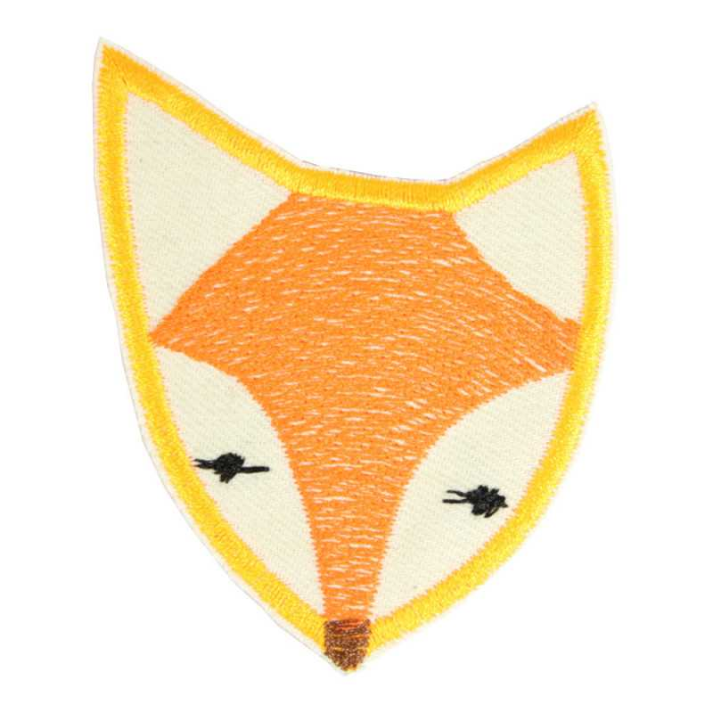 fox iron on patches neon colors applique textile repair patches organic cotton