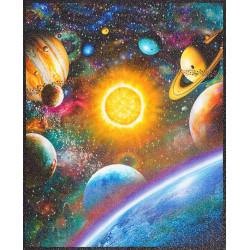 Baumwollstoff Weltall Sterne Stoffe Weltraum Robert Kaufman fabrics Space gold glitzer Galaxie STARGAZER digital
