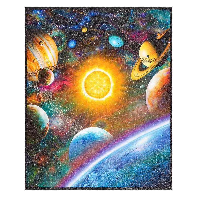 Cotton fabric stars fabrics universe Robert Kaufman fabrics stargazers gold glitter metallic