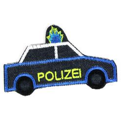 Flicken Polizeiauto 110 Bügelflicken Bio Jeans Neonfarben Knieflicken Hosenflicken zum aufbügeln