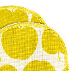 iron on patch apple yellow for children iron-on badges apples appliques