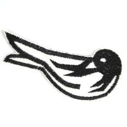 Iron-on patch swallow patch bird black iron-on patches for adult as an accessory patch visible mending repair patches