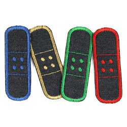 Jeans patches iron on plaster single set contains 4 appliques and ironing instructions