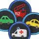 Iron-on patches vehicles 4 knee Patches small iron-on repair-patches with cars organic denim Patches Trouser patch