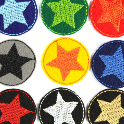 iron-on patch star colorful 9 patches mini badge appliques iron-on small