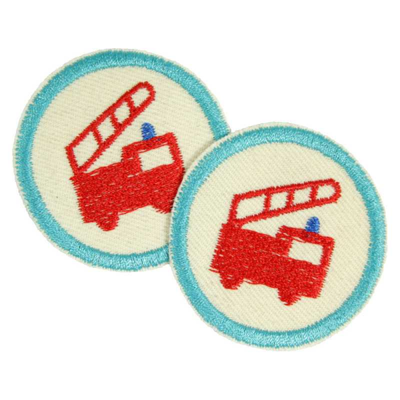 Emergency Vehicle Patch Set Mini repair Patches Firefighter Trouser Patch Bio Ambulance 2 knee patches 112 Vehicles Boys