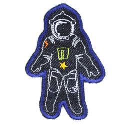 Hosenflicken Astronaut XL Flicken Raumfahrer organic Jeans Knieflicken Weltraum Aufbügler