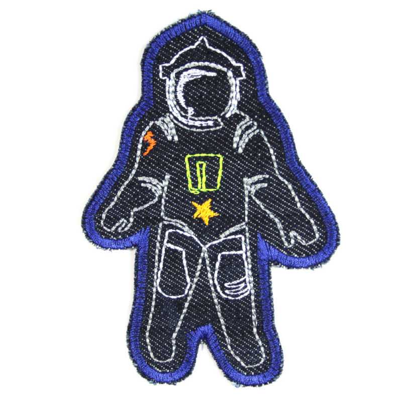 Iron on Patch Astronaut organic denim knee patch space applique