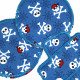 Iron-on Patch Pirate Set blue 3 Knee Patches in Skull Set 2 round temples and 1 plaster with skull motif bones