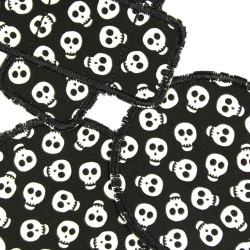 Iron-on patch Skull Set 3 Patches Skull knee-patch 2 iron-on Patch Round 1 iron on Plaster Patch Halloween Patches repair patche