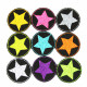 Iron on Patch Star 9 Mini repair patches Neon Stars on black of Colorful Little Patches Trouser Patches