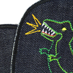 dinosaur patches and volcano patches iron on textile repair patches for visible mending