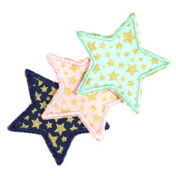 3 star knee patches small trouser patches with golden stars