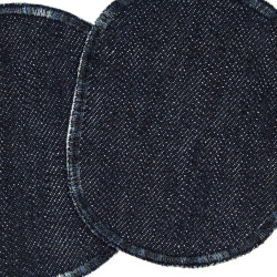 Knee patches organic denim 2 pants patches 10 x 8 cm for patching children's pants
