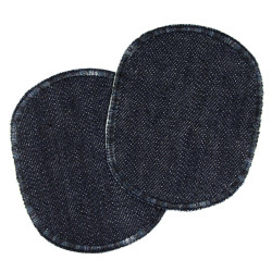 Pants patches children up to 116 plain blue jeans patches knee patches to iron on