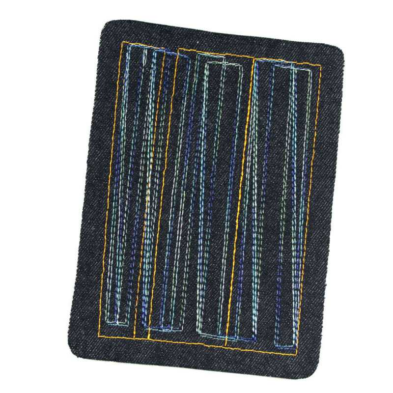 large patch with graphic in gradient colors jeans patches for adults