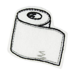 Toilet paper iron-on patch as an iron-on applique for adults
