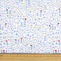 Blue fabric with fine cats printed cotton fabric by timeless treasures fabrics