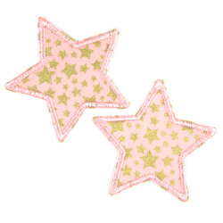 2 star iron-on patches...