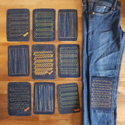 cool jeans patches with graphics for adults as iron-on patches and appliques