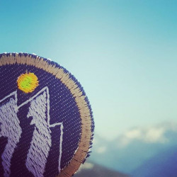 Mountain patch in the mountains nature iron-on patches