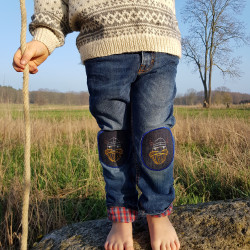 Viking knee patches for children on jeans kid's trousers iron-on patches