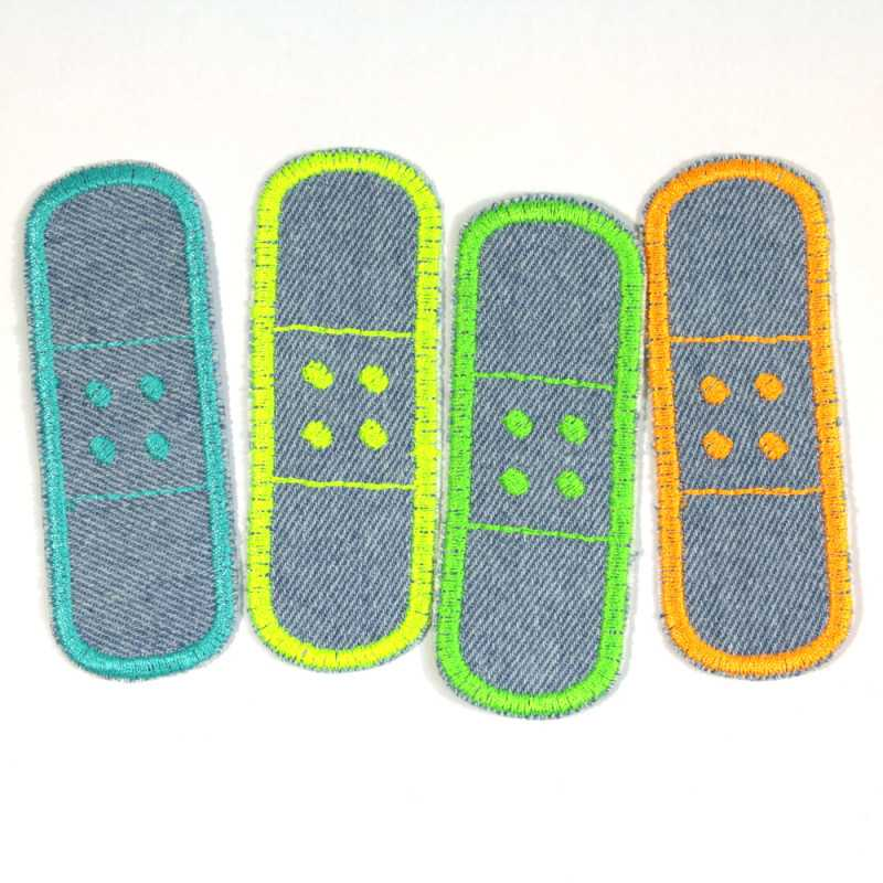 Patch plaster to iron on neon trouser patches light blue iron-on patch