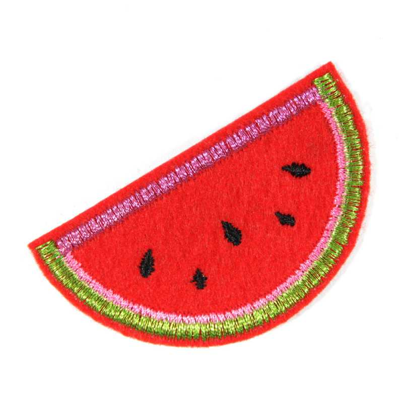 Melon Patches Mini Glitter Patches Metallic Patches repair Patch Fruit Patches Applique Small Lurex Glitter Red