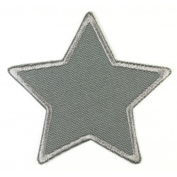 Patch star patch gray appliqué and iron-on patch and suitable as a knee patch trouser patch