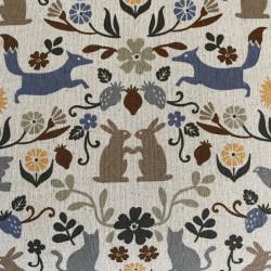 japanese cotton fabric with animals cosmo animal motif fabrics